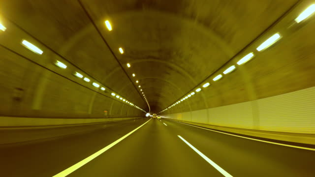 driving in tunnel -4k- - tunnel stock videos & royalty-free footage