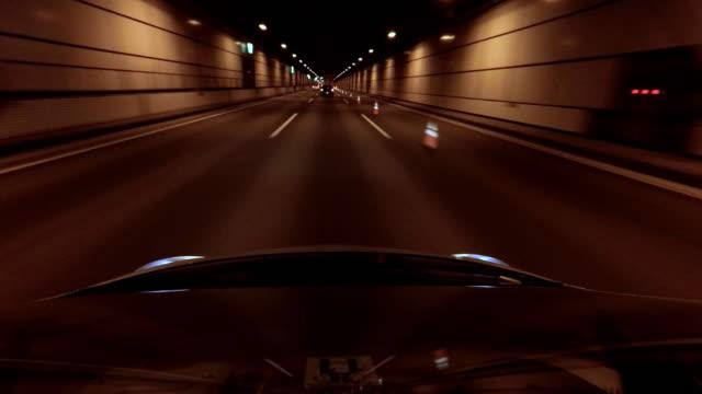 Fahren Sie im tunnel bis 4 k