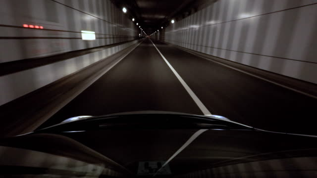 driving in tunnel -4k- - vanishing point stock videos and b-roll footage