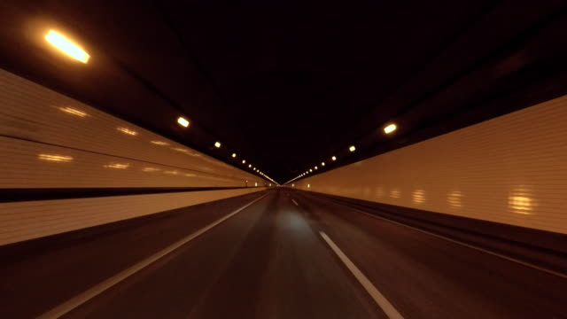 driving in tunnel -aqua-line- -4k- - tunnel stock videos & royalty-free footage