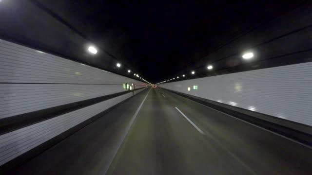 Driving in tunnel -Aqua-line- -4K-