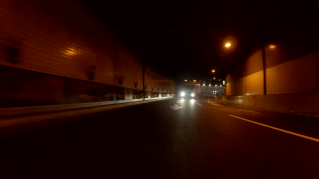 driving in tunnel / rear view - plusphoto stock videos & royalty-free footage