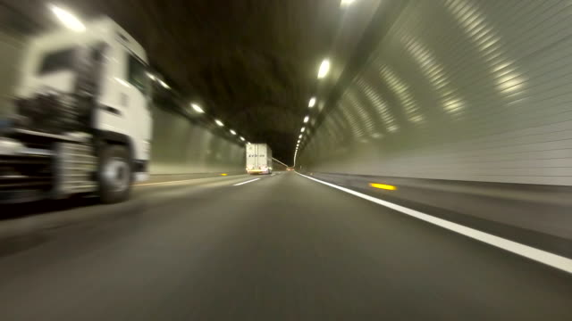 Driving in tunnel -super low angle-