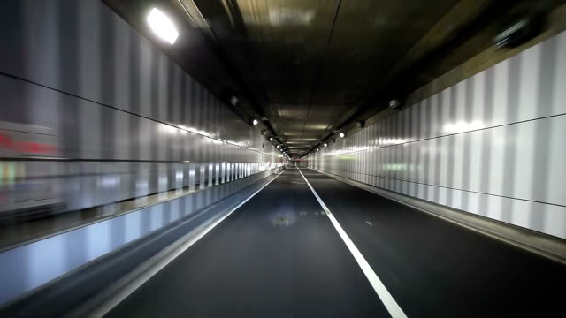 driving in tunnel - street light stock videos & royalty-free footage