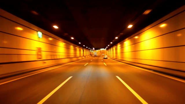 driving in tunnel - satoyama scenery stock videos & royalty-free footage