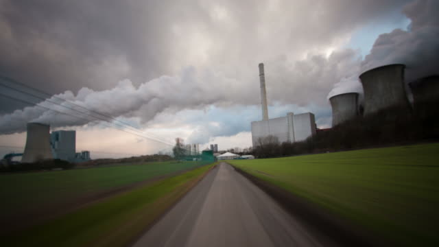 driving industrial landscape - industrial district stock videos & royalty-free footage