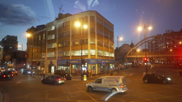 driving into shoreditch from the city of london - street stock videos & royalty-free footage
