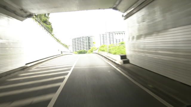 pov, driving junction to expwy, tokyo, japan - moat stock videos & royalty-free footage