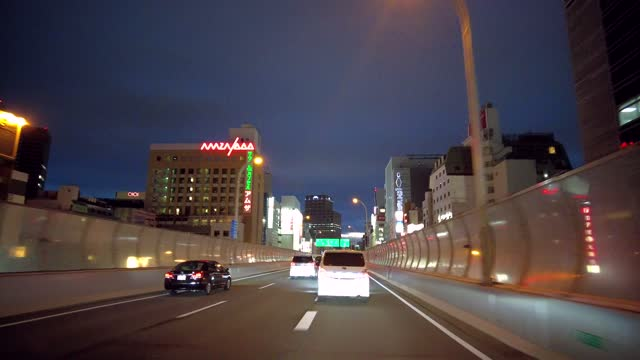 driving movie of the metropolitan expressway. - tail light stock videos & royalty-free footage