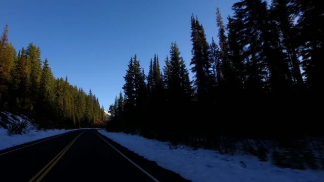 Driving near Mt Bachelor, Oregon