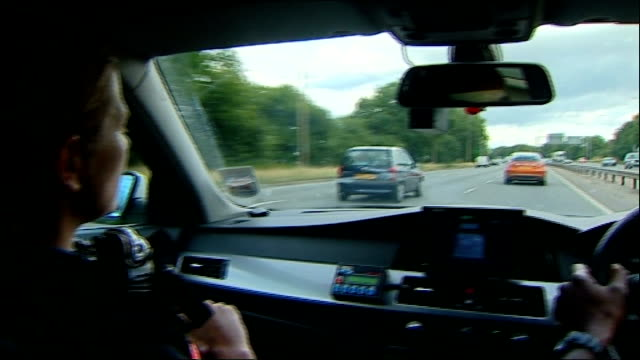 onthespot fines come into force ENGLAND Northamptonshire BVs Police traffic officers interviewed in car SOT as along motorway including some POV...