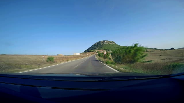 driving on a country road. - andalucia stock videos & royalty-free footage