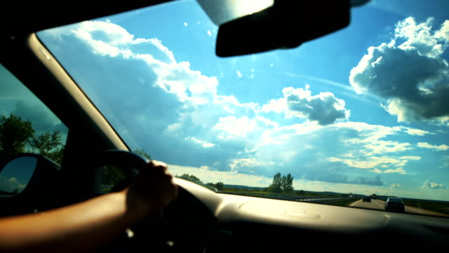 driving on a freeway. - rear view mirror stock videos & royalty-free footage