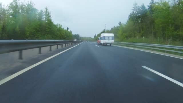 driving on a highway - car point of view - overtaking stock videos and b-roll footage