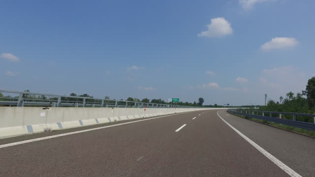 pov driving  on a highway, - car point of view stock videos & royalty-free footage