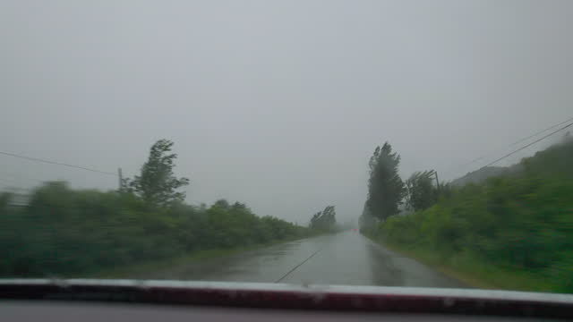 driving  on a rainy day - extreme weather stock videos & royalty-free footage