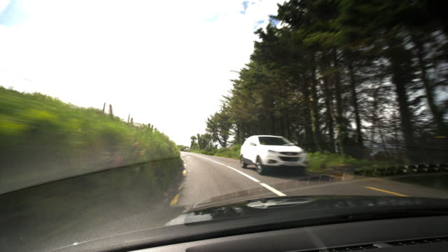 driving on a road in ireland from the driver's perspective - car point of view stock videos & royalty-free footage