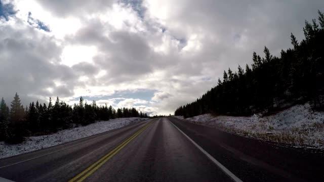 POV driving on a scenic road