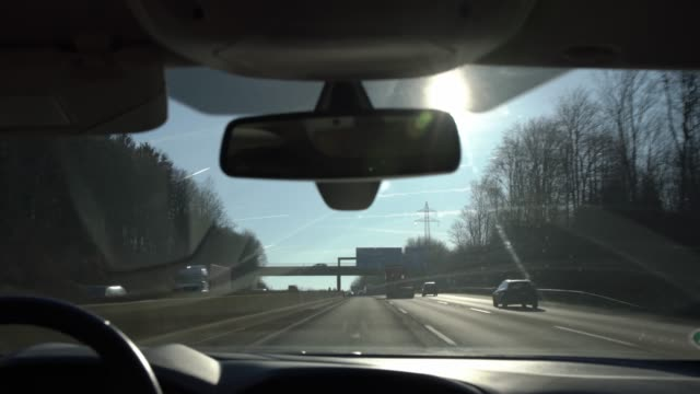 driving on autobahn a3 - windscreen stock videos & royalty-free footage