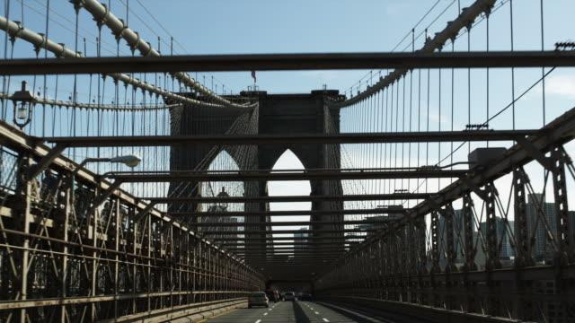 POV Driving on Brooklyn Bridge,  New York City, New York, USA