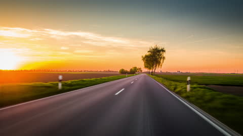driving on country road in germany - horizon stock videos & royalty-free footage