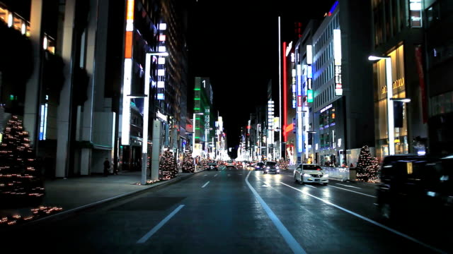 driving on ginza street - plusphoto stock videos & royalty-free footage
