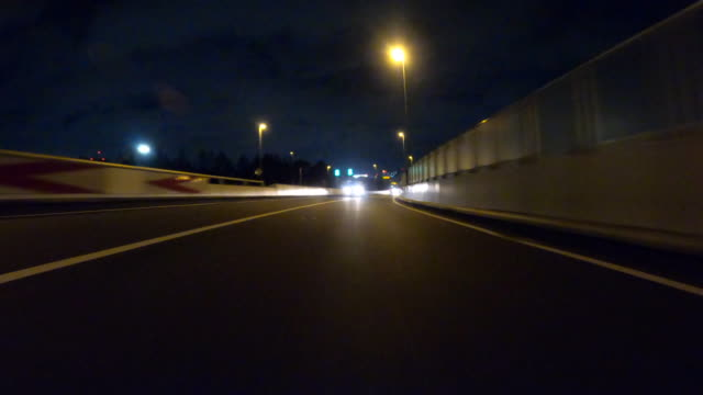 driving on highway at night / rear view - behind stock videos & royalty-free footage