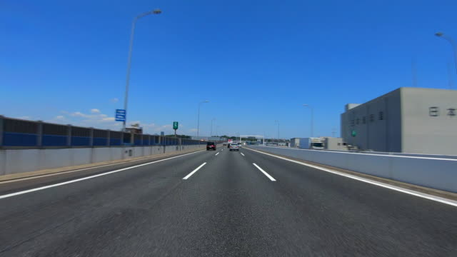 driving on highway at sunny day - plusphoto stock videos & royalty-free footage
