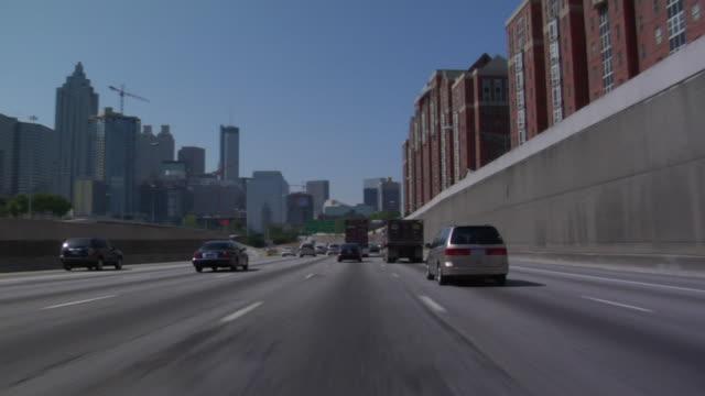 T/L, POV, Driving on highway, Atlanta, Georgia, USA
