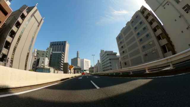 driving on highway / blue sky / sun / wide - plusphoto stock videos & royalty-free footage