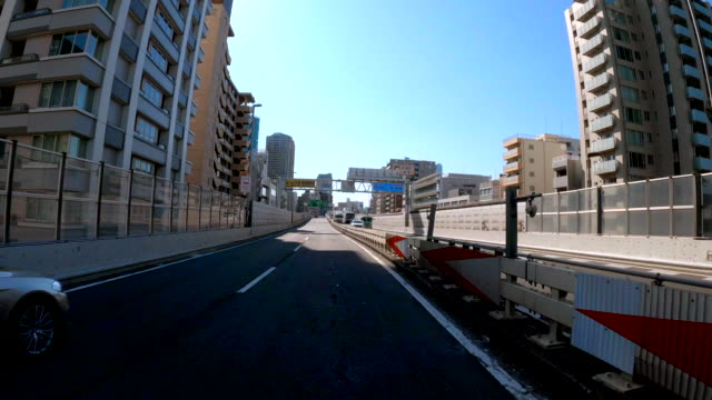 driving on highway / blue sky / tokyo tower - land vehicle stock videos & royalty-free footage