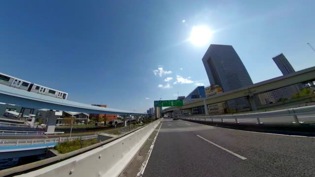 driving on highway / bulk 2/7 /blue sky / sun / wide - plusphoto stock videos & royalty-free footage