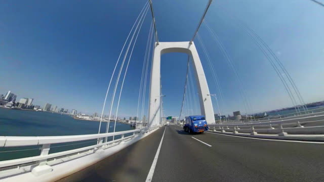 driving on highway / bulk 5/7 / rainbow bridge - plusphoto stock videos & royalty-free footage