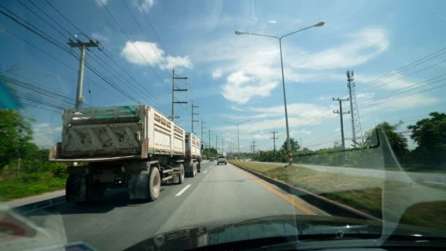 チェンマイ タイ高速道路を走行。 - フロントガラス点の映像素材/bロール