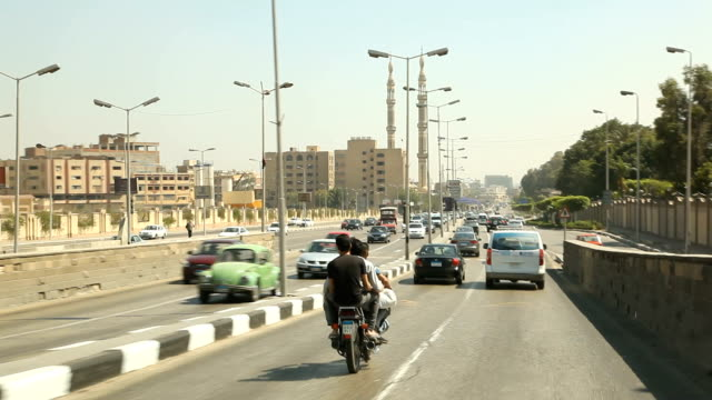 POV driving on highway in / Cairo/ Egypt
