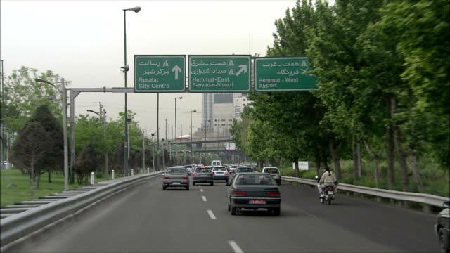 POV Driving on highway, Tehran, Iran