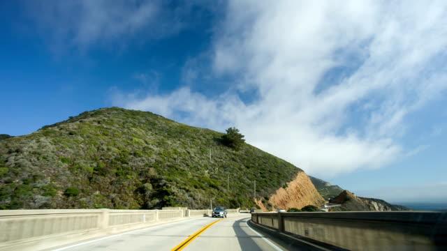 Körning på Hwy 101 Big Sur California