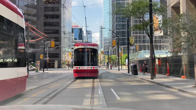 driving on king street in toronto, - toronto stock videos & royalty-free footage