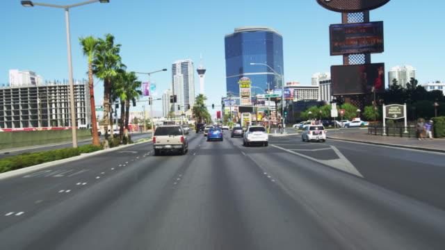 Driving on Las Vegas BLVD. in Slow Motion.
