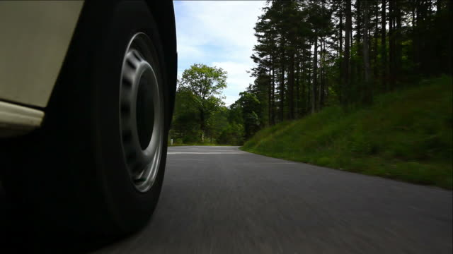 HD Driving on mountain road (car point of view)