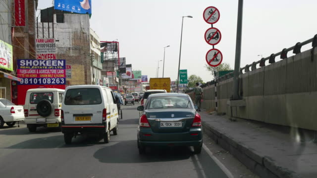 Driving on NH8, National Highway 8, from Delhi towards Gurgaon