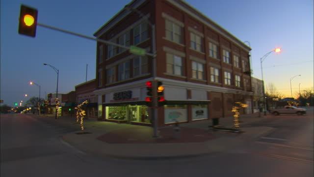 POV Driving on Pennsylvania Avenue at sunrise, Independence, Kansas, USA
