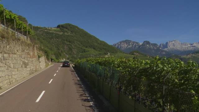 POV Driving on Ritten (Renon) High Plateau near Bozen (Bolzano) in South Tyrol