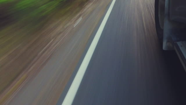 Driving on road pov.