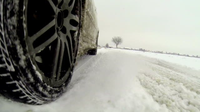 driving on snow - alloy stock videos & royalty-free footage