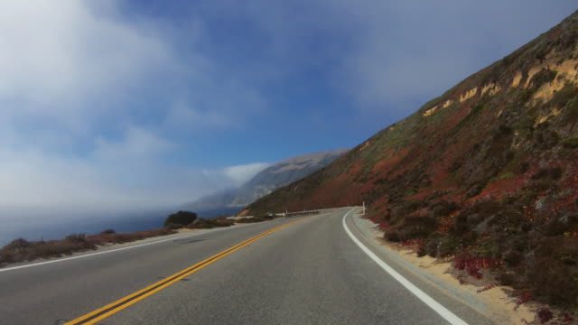 pov driving on the big sur coast, california - route 001 stock videos & royalty-free footage