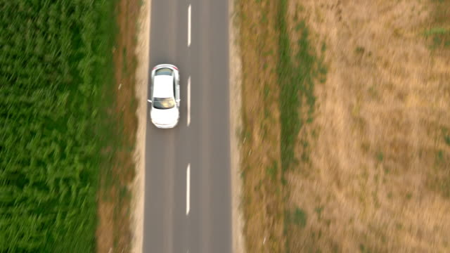 AERIAL Driving on the country road