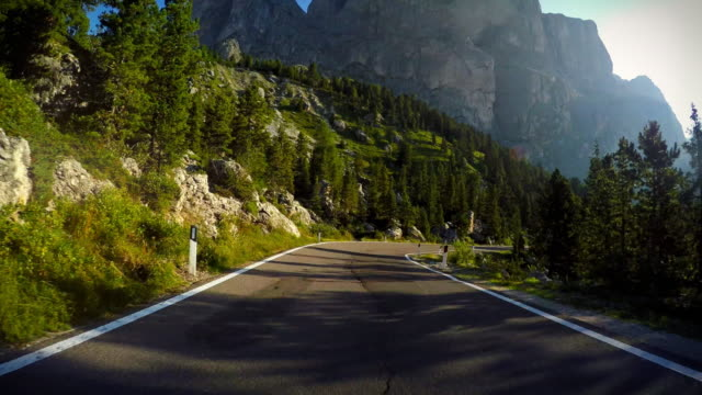 driving on the dolomites - car point of view stock videos & royalty-free footage