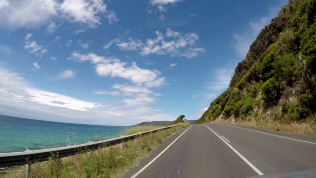 pov driving on the great ocean road - victoria australia stock videos & royalty-free footage