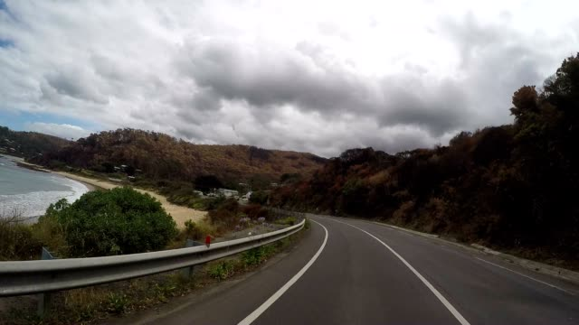 pov driving on the great ocean road - great ocean road stock videos & royalty-free footage